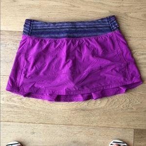Lululemon tennis skirt with spandex shorts inside